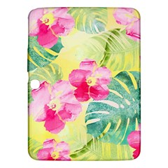 Tropical Dream Hibiscus Pattern Samsung Galaxy Tab 3 (10 1 ) P5200 Hardshell Case  by DanaeStudio