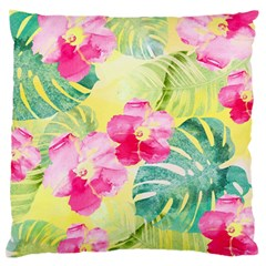 Tropical Dream Hibiscus Pattern Standard Flano Cushion Case (one Side) by DanaeStudio
