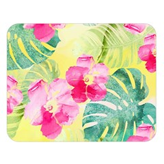 Tropical Dream Hibiscus Pattern Double Sided Flano Blanket (large)  by DanaeStudio