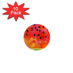 Abstract Watermelon 1  Mini Magnet (10 Pack)  by DanaeStudio