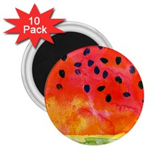 Abstract Watermelon 2 25  Magnets (10 Pack)  by DanaeStudio