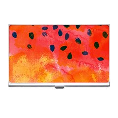 Abstract Watermelon Business Card Holders by DanaeStudio