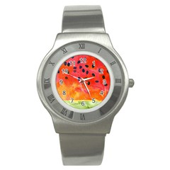 Abstract Watermelon Stainless Steel Watch by DanaeStudio