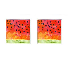 Abstract Watermelon Cufflinks (square)