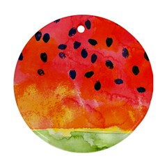 Abstract Watermelon Round Ornament (two Sides)