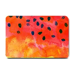 Abstract Watermelon Small Doormat  by DanaeStudio