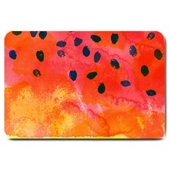 Abstract Watermelon Large Doormat  by DanaeStudio