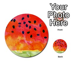 Abstract Watermelon Multi Purpose Cards (round)  by DanaeStudio