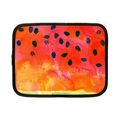 Abstract Watermelon Netbook Case (small)  by DanaeStudio