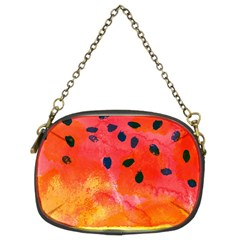Abstract Watermelon Chain Purses (two Sides)  by DanaeStudio