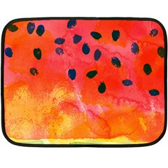 Abstract Watermelon Double Sided Fleece Blanket (mini)  by DanaeStudio