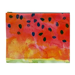 Abstract Watermelon Cosmetic Bag (xl) by DanaeStudio