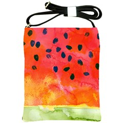 Abstract Watermelon Shoulder Sling Bags by DanaeStudio
