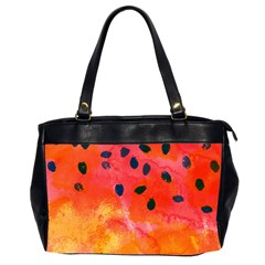 Abstract Watermelon Office Handbags (2 Sides)  by DanaeStudio