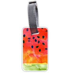 Abstract Watermelon Luggage Tags (one Side)  by DanaeStudio