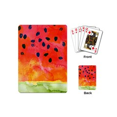 Abstract Watermelon Playing Cards (mini)  by DanaeStudio