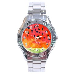 Abstract Watermelon Stainless Steel Analogue Watch