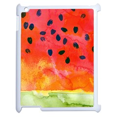 Abstract Watermelon Apple Ipad 2 Case (white)