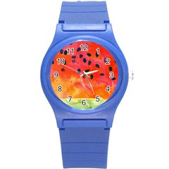 Abstract Watermelon Round Plastic Sport Watch (s)