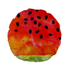 Abstract Watermelon Standard 15  Premium Round Cushions