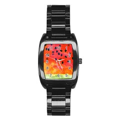 Abstract Watermelon Stainless Steel Barrel Watch by DanaeStudio