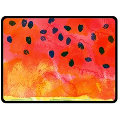 Abstract Watermelon Double Sided Fleece Blanket (large)