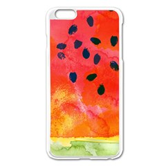 Abstract Watermelon Apple Iphone 6 Plus/6s Plus Enamel White Case by DanaeStudio
