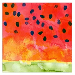 Abstract Watermelon Large Satin Scarf (square)
