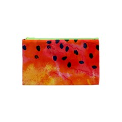 Abstract Watermelon Cosmetic Bag (xs) by DanaeStudio
