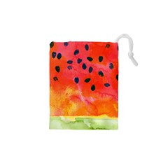 Abstract Watermelon Drawstring Pouches (xs)  by DanaeStudio