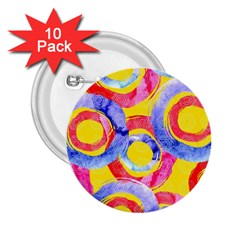 Blue And Pink Dream 2 25  Buttons (10 Pack)