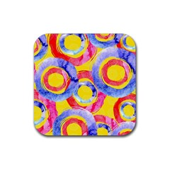 Blue And Pink Dream Rubber Coaster (square)