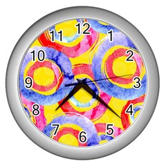 Blue And Pink Dream Wall Clocks (silver)