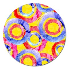 Blue And Pink Dream Magnet 5  (round) by DanaeStudio