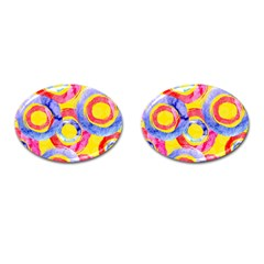Blue And Pink Dream Cufflinks (oval) by DanaeStudio