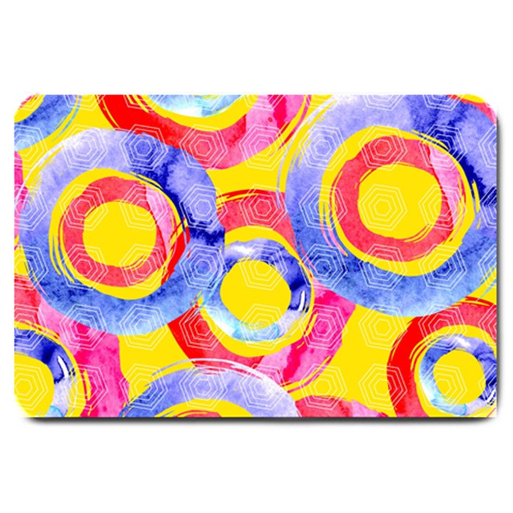 Blue And Pink Dream Large Doormat
