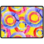 Blue And Pink Dream Fleece Blanket (Large)  80 x60 Blanket Front
