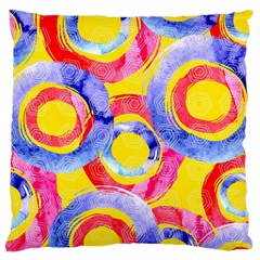 Blue And Pink Dream Large Cushion Case (one Side) by DanaeStudio