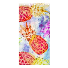Colorful Pineapples Over A Blue Background Shower Curtain 36  X 72  (stall)
