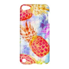 Colorful Pineapples Over A Blue Background Apple Ipod Touch 5 Hardshell Case