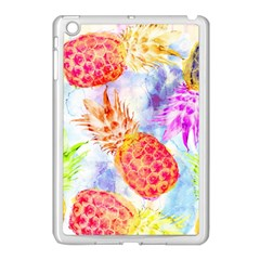 Colorful Pineapples Over A Blue Background Apple Ipad Mini Case (white)