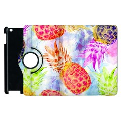 Colorful Pineapples Over A Blue Background Apple Ipad 3/4 Flip 360 Case