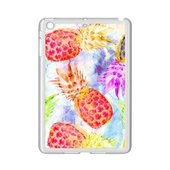 Colorful Pineapples Over A Blue Background Ipad Mini 2 Enamel Coated Cases