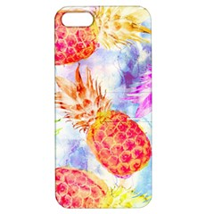 Colorful Pineapples Over A Blue Background Apple Iphone 5 Hardshell Case With Stand