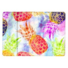 Colorful Pineapples Over A Blue Background Samsung Galaxy Tab 10 1  P7500 Flip Case