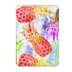 Colorful Pineapples Over A Blue Background Samsung Galaxy Tab 2 (10 1 ) P5100 Hardshell Case
