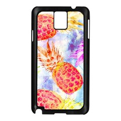 Colorful Pineapples Over A Blue Background Samsung Galaxy Note 3 N9005 Case (black)