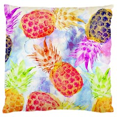 Colorful Pineapples Over A Blue Background Standard Flano Cushion Case (one Side) by DanaeStudio