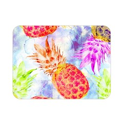 Colorful Pineapples Over A Blue Background Double Sided Flano Blanket (mini)  by DanaeStudio