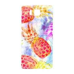 Colorful Pineapples Over A Blue Background Samsung Galaxy Alpha Hardshell Back Case